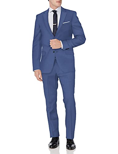 Tommy Hilfiger Men's Slim Fit Performance Suit with Stretch, Medium Blue, 40 Regular