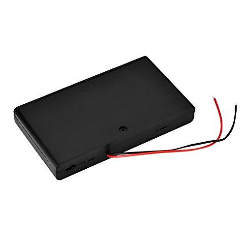 PUSOKEI Soporte de batería AA de 8 Piezas, Caja de Almacenamiento de batería portátil de 12V con Soporte de batería AA de 8 Piezas con Tapa/Interruptor