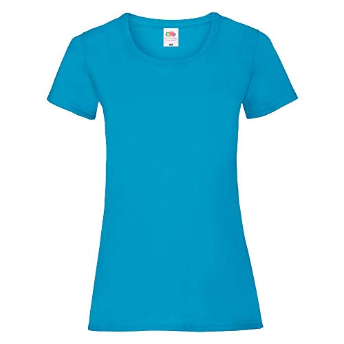Fruit of the Loom - Lady-Fit Valueweight T - Modell 2013 S,Azure Blue