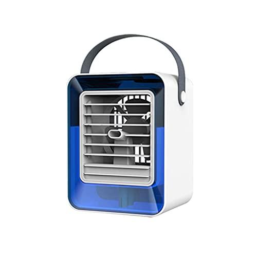 Aire acondicionado portátil, 2 en 1, humidificador y purificador de aire, ventilador USB, 3 niveles de refrigeración, enfriador de aire portátil para el hogar y la oficina