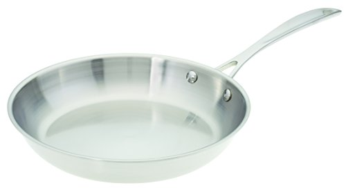 American Kitchen 10-inch Stainless Steel Skillet, Tri-Ply Stainless Steel