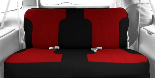 CalTrend Front Row Sport Bucket Custom Fit Seat Cover for Select Toyota Tacoma Models - Neoprene...