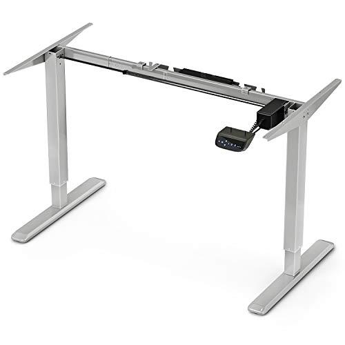 Deskfit Höhenverstellbarer Schreibtisch Elektrisch, LED Touch-Display, Anti-Kollisionssystem, Timer+ Memory-Steuerung, stufenlos höhenverstellbares Tischgestell DF300 für Jede gängige Büro Tischplatte
