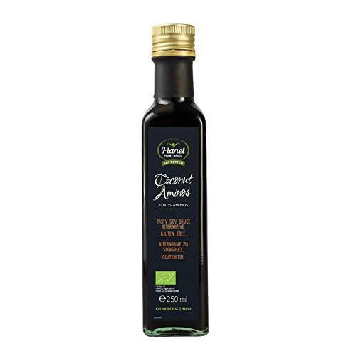 Planet Plant-Based Bio Kokos Aminos 250ml - Die glutenfreie Alternative zu Sojasauce - Vegan - ohne Soja - aus dem fermentierten Nektar der Kokosblüte