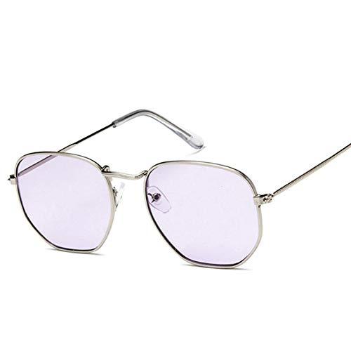 YTYASO Gafas de Sol ovaladas pequeñas para Mujer, Gafas de Sol de Espejo Coloridas de Metal Rojo para Mujer, Moda UV400