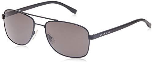 Hugo Boss BOSS 0762/S NR 10G Gafas de sol, Negro (Mtblk Black/Brw Grey), 58 Unisex-Adulto