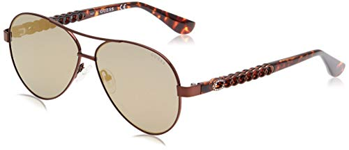 Guess GU7518 49G 58 Monturas de gafas, Marrón (Marron Oscuro OpMarrone Specchiato), 58.0 Unisex Adulto