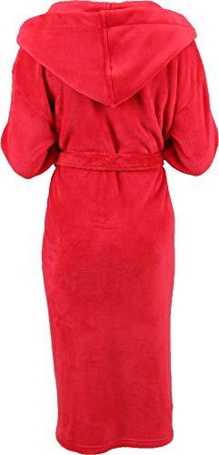 Betz Albornoz con Capucha para niños Chicas Chicos tamaños 128-176 de Color Azul y Rojo Tamaño 140 / Rojo