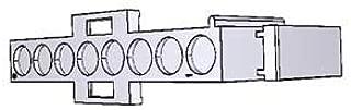 TE CONNECTIVITY 640582-1 Mate-N-LOK 8 Position Positive Lock Crimp Terminal Free Hanging Plug Housing - 25 Item(s)