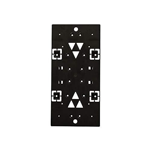 Gibraltar Mailboxes PLMB0060 Universal-Briefkastenhalterung aus geformtem Kunststoff, Schwarz