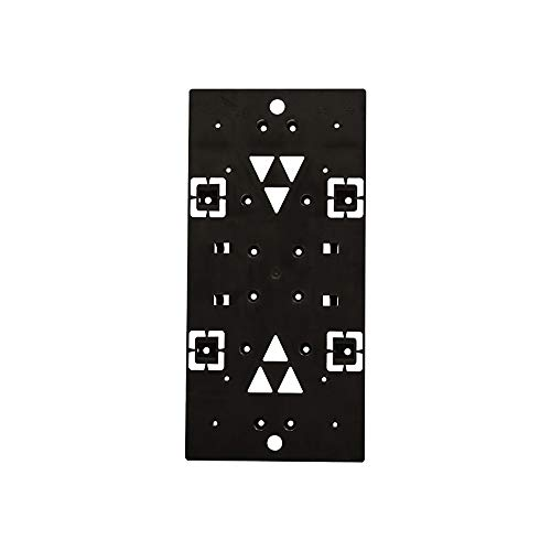 Gibraltar Mailboxes Universal Mailbox Mounting Bracket Molded Plastic Black, Mounting Bracket, PLMB0060