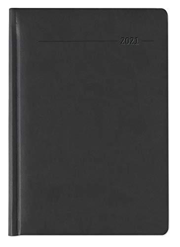 Praxistimer Tucson schwarz 2021 - Servicetimer 21,7x30,3 cm - 1 Tag 1 Seite - 400 Seiten - Tucson-Einband - Tageskalendarium - Alpha Edition