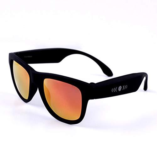 RHSMW Gafas Inteligentes de conducción ósea, Gafas de Sol polarizadas Bluetooth 5.0 UV400, táctiles inalámbricos Impermeables para Deportes al Aire Libre Que se Pueden equipar con miopía,f