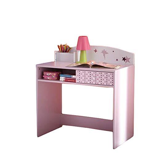 Schreibtisch Sternchen lila/weiß Holz Mädchen Computertisch Kinderschreibtisch Jugendschreibtisch Bürotisch Kinderzimmer Jugendzimmer