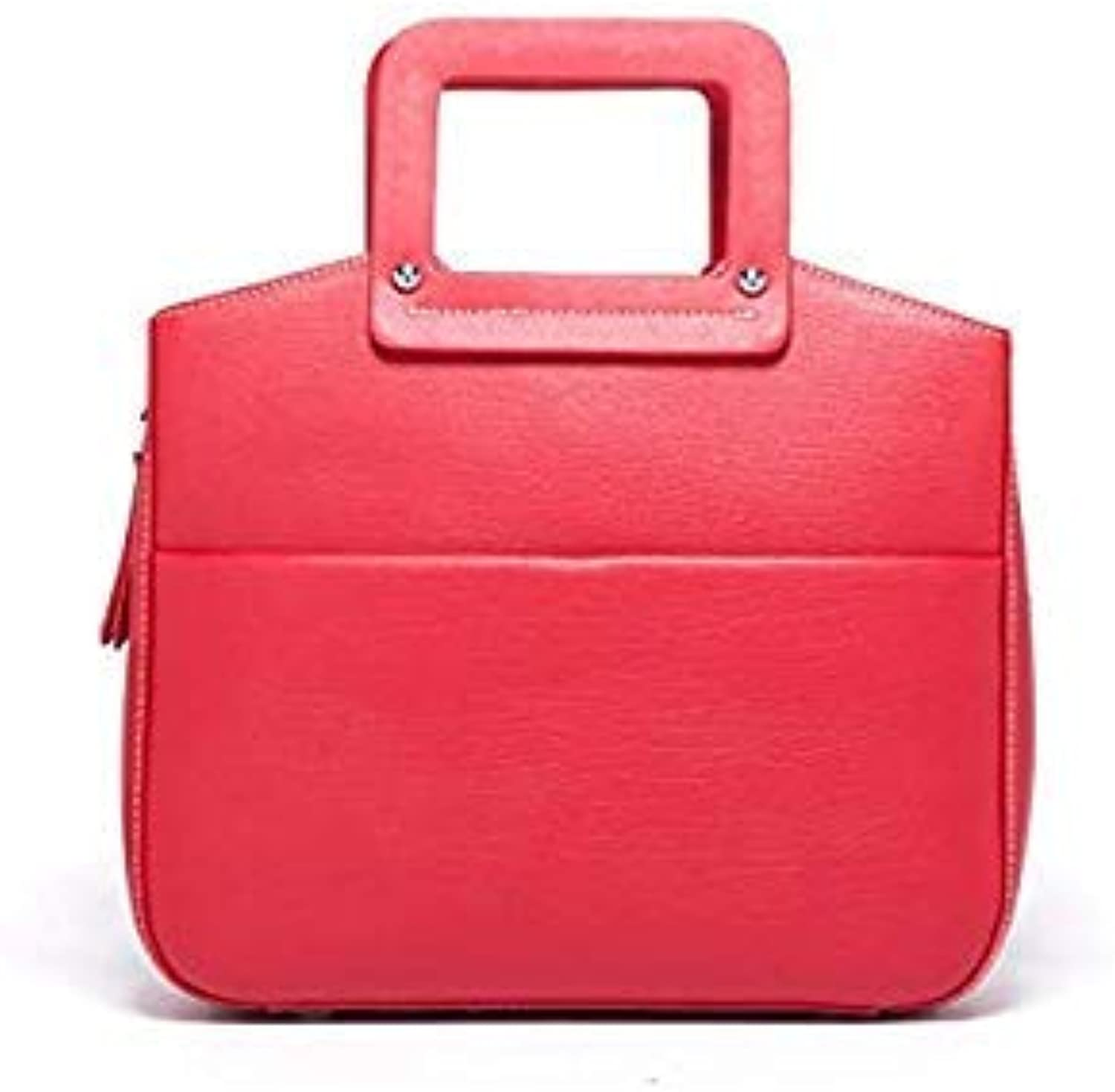 Bloomerang Split Leather Totes Bags for Women Totes Handbags Large Soft Fashion Simple Messenger Bags for Female Handbags Lady Dames Tassen color red