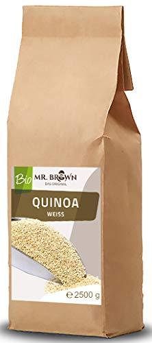 Mr. Brown BIO Quinoa weiß 2,5 KG | BIO Quinoa 2500g | 2,5 kg | aus kontrolliert biologischem Anbau...