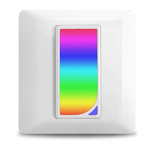 Smart Lichtschalter mit Nachtlicht, Kompatibel mit Echo Alexa/Google Home und IFTTT, WLAN Wandschalter unterputz und Timer, Fernbedienung - Kein Hub erforderlich, Neutral Need