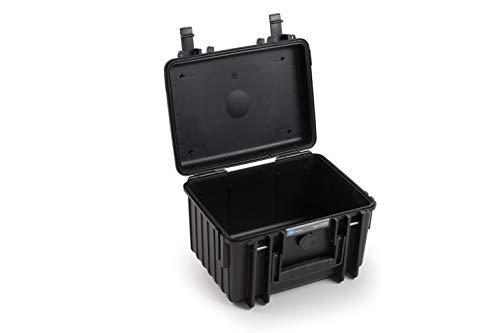 B&W Transportkoffer Outdoor Typ 2000 schwarz - wasserdicht nach IP67 Zertifizierung, staubdicht, bruchsicher und unverwüstlich