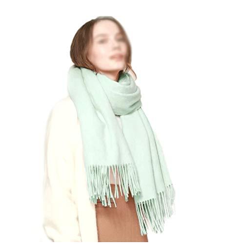 hkwshop Bufandas Chal La Lana de Las Mujeres de la Bufanda El otoño y el Invierno cálido Bufanda Multicolor Opcional de Doble Uso a Largo mantón Manta Moda Bufandas (Color : K)
