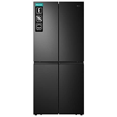 Hisense RQ563N4SF2 Cross Door Frigorifero freezer, NoFrostPlus, compressore inverter, HolidayMode, SuperCool, 181 cm, frigorifero 294 l, congelatore 160 l, 40 dB, 279 kWh/anno/nero