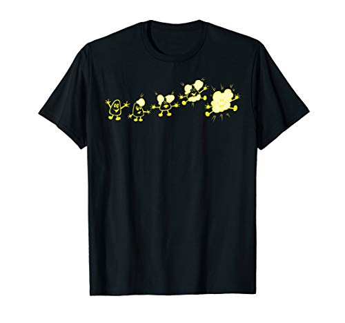 Microwave Evolution of a Popcorn Kernel Cute Funny T Shirt
