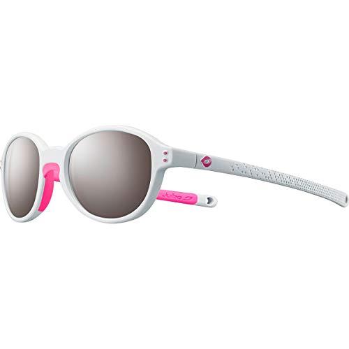 Julbo Frisbee Sonnenbrille für Mädchen, hellgrau/neonrosa, fr: XXS (Größe Hersteller: 4-6 Jahre)