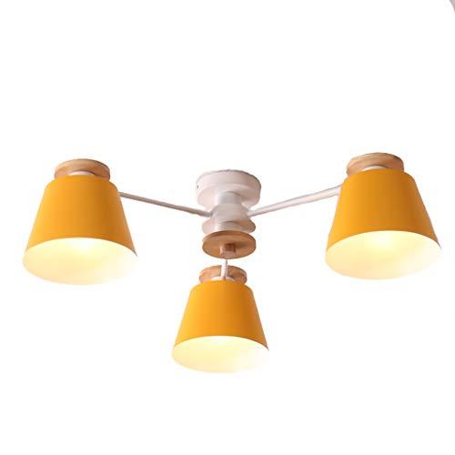 Luminaires suspendus Lustre en bois Salon Cuisine d'étude Petit appartement Lustre en bois (Couleur : A)