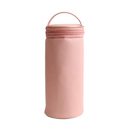 Bobotron Trousse portable pour pinceaux de maquillage Rose