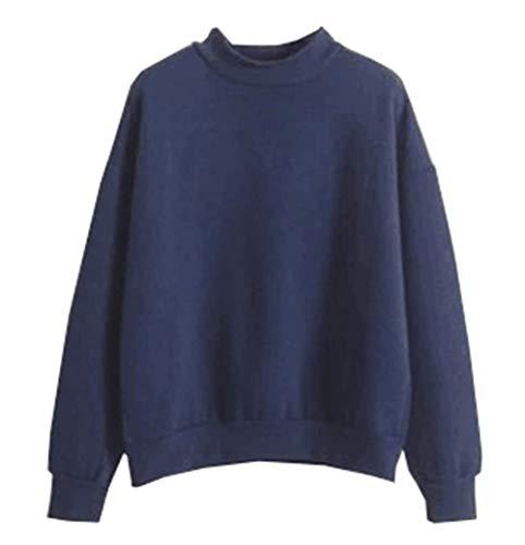 Derrick Aled(k) zhuke Frauen Herbst und Winter einfarbig Plus Samt Pullover kleinen Stehkragen lose gepolsterte Pullover Baseballuniform Jacke