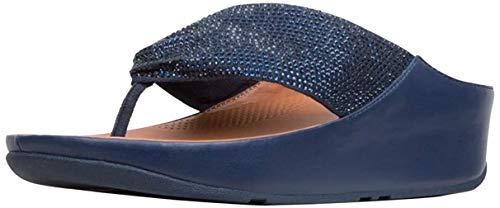 Fitflop Damen Twiss Crystal Sandalen, Blau (Midnight Navy 399), 40 EU