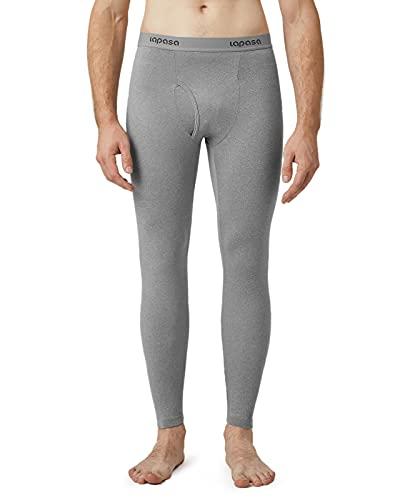 LAPASA Pantalón Térmico Pack de 2 para Hombre (Malla térmica). -Brushed Back Fabric Technique- Calças térmicas M10 (M (Largo 95 cm, Cintura 81-86 cm), Gris 2)