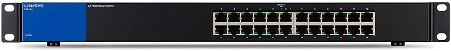 Linksys スイッチングハブ LAN 24ポート 10 / 100 / 1000Mbps ギガビット 金属筺体 静音設計 設定不要 5年保証 LGS124-JP-A