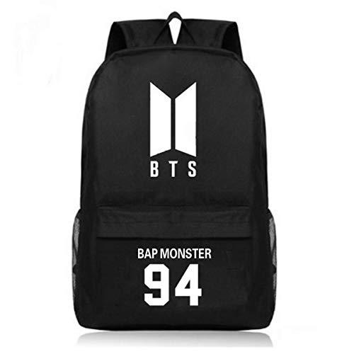 Meridiaga Koreanischer Bangtan Boys BTS Oxford Rucksack Casual Rucksack Daypack Laptoptasche College Tasche Mehrere Stile Schultasche (Rap Monster 94, Einheitsgröße)