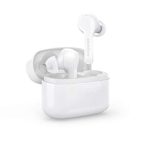Soundcore Liberty Air Bluetooth Kopfhörer true wireless in Ear kabellos, mit Graphene-verstärktem Klang, 20 Stunden Akkulaufzeit, Dual-Mic und Bluetooth 5.0, für iPhone Samsung Huawei (Weiß)