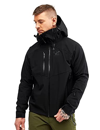 RevolutionRace Cyclone Rescue Jacket, Herrenjacke, Belüftete und Wasserdichte Jacke für Wanderungen und andere Outdoor-Aktivitäten, Black, L