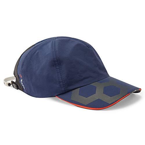 Gill Casquette Race Cap - Bleu foncé - Cordon de retenue et Clip - Bandeau intérieur Absorbant - 100% Nylon - Fermeture Velcro