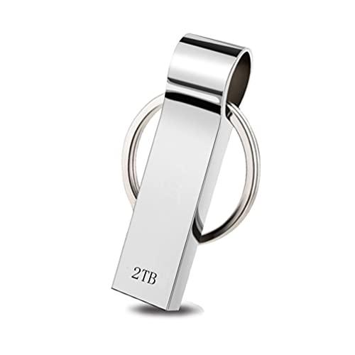Onluck USB Stick 2TB,USB-Flash-Laufwerk 2000GB,Speicherstick zum Speichern von Foto/Video/Musik,Memory Stick USB 3.0 kompatibel mit Computer/Laptop,Externes Datenspeicherlaufwerk mit Schlüsselbund