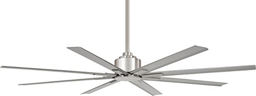 Minka-Aire F896-65-BNW Xtreme H2O 65 Inch Outdoor Ceiling Fan with DC Motor in Brushed Nickel Wet Finish