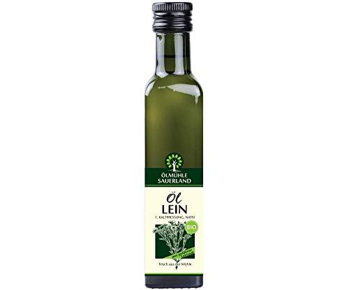 ÖLMÜHLE SAUERLAND - Leinöl goldene Saat Bio nativ kaltgepresst (250 ml)