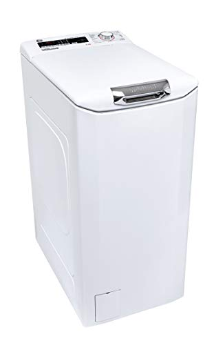 Hoover H-WASH 300 LITE - H3TM08TACE/1-37, Lavadora carga superior, 8 kg, 1000 rpm, 40 cm ancho, Cesto Slow Motion, One Touch, All in One, Ciclos rápidos, Blanco
