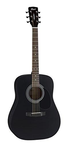Cort AD810Akustikgitarrenset schwarz Satin Folk Gitarre