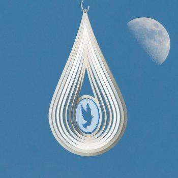 Acier inoxydable Vent Jeu – Sun Dancer Mix Amulette – Unique Matériau Mix, lichtreflektierend – Dimensions : 15,5 x 28 cm – avec crochet avec roulement à billes vertébrale Tourterelle