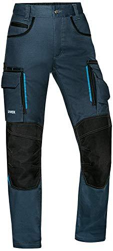 Uvex Tune-up Pantalon de travail long pour femme – Pantalon cargo avec poches aux genoux - Bleu - 48