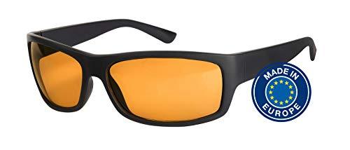 Blaulichtfilter – Sportbrille – Wrap-around Brille, Blue Blocker mit Kantenfilter 511, UV-Schutz, Blendschutz, kontraststeigernde Unisex-Lichtschutzbrille IV PROSHIELD