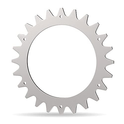 DOMAR® - Hochwertige Mähroboter Spikes für Worx Landroid aus Edelstahl I entgratete Mähroboter Spikes zur Traktionsverbesserung kompatibel mit Worx Landroid S&M Modellen 205mm I Zubehör offrad Räder