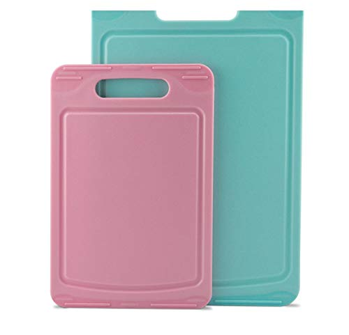 Cutting Boards Cutting Board Set of 2Pcs Plastic Food Supplement Cut Fruit Meat Vegetable Home Outdoor Kitchen Tool Plastic Chopping Boards
