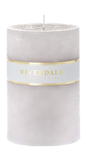 Riverdale - Kaars Pillar grijs 10x15cm