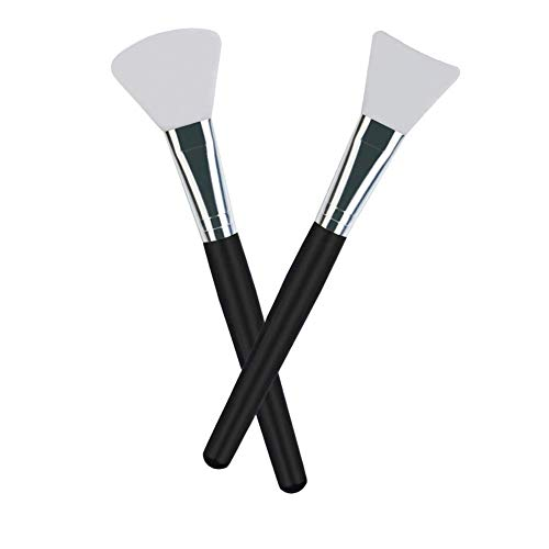 LORMAY 2 Pcs Premium Quality Silicone Face Mask Brush Applicator for Facials, Mud, Clay Mask, DIY, Modeling Mask, Body Lotion, and BB CC Cream