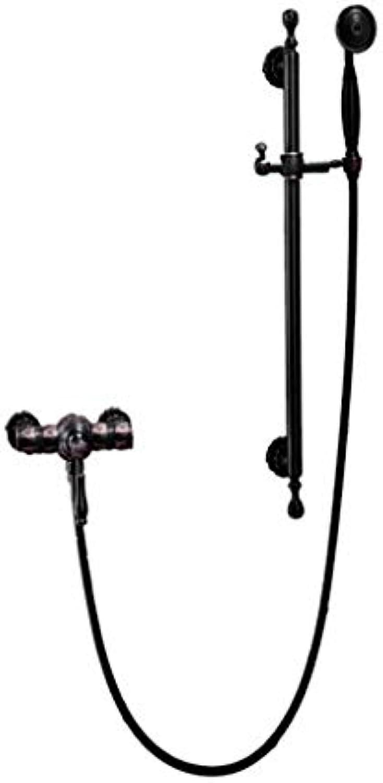 LHW Shower Set chset, schwarz, Vintage-Gravur, europischer Stil, Wandbehang, Sanitrkeramik