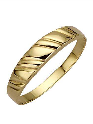 KLiNGEL Damen 333 Gelbgold Ring in Gelbgoldfarbenmit in und in und in